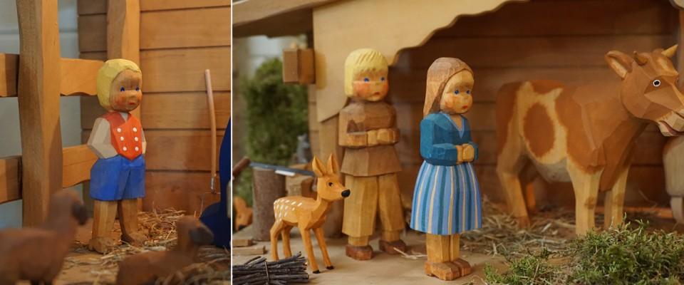 Krippenfiguren aus Holz